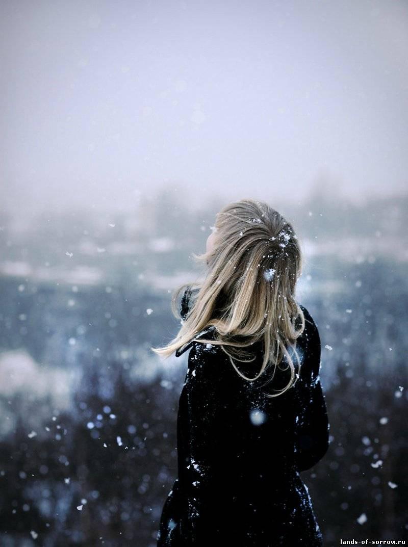 Зима фото девушек со спины